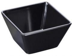 Melamin skål firk sort 130x130x70mm