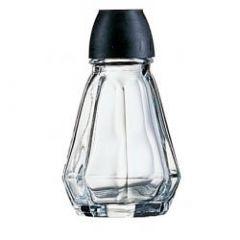 Salt/peber glas strø Damier sort låg