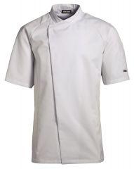 Kokke tjenerjakke kort arm - Hvid