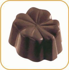 Chokoladeform blomst 24 stk 10 gr