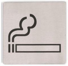 Skilt ryger rustfri stål selvklæb 13x13 cm