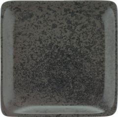 Bauscher Tallerken Sandstone flad 19x19 cm black