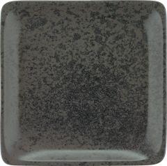 Bauscher Tallerken Sandstone flad 29x29 cm black