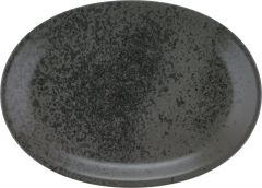 Bauscher Tallerken Sandstone oval coup 32 cm black