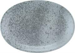 Bauscher Tallerken Sandstone oval coup 37 cm grey