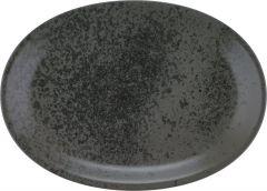 Bauscher Tallerken Sandstone oval coup 37 cm black