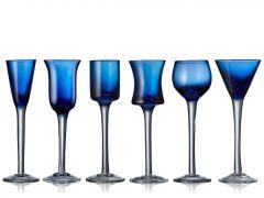 Lyngby snapsglas blå