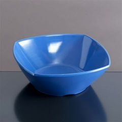 Melamin skål firk 139x139x50 mm BLÅ