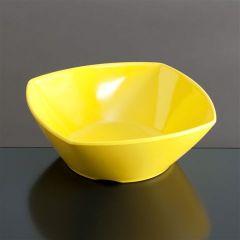 Melamin skål firk 139x139x50 mm GUL