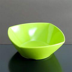 Melamin skål firk 139x139x50 mm GRØN