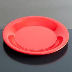 Melamin tallerken flad Ø230 mm RØD