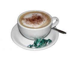 klassik, hvid cappuccinokop