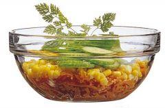glas serverings skål