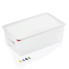 Opbevaringsboks med låg plast 1/1gn, dybde 20 cm