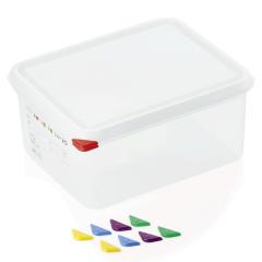 Opbevaringsbox med låg plast 1/2gn, dybde 15 cm