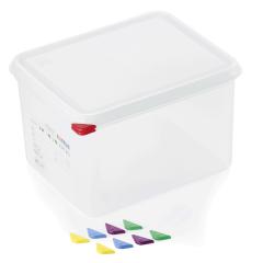 Opbevaringsbox med låg plast 1/2gn, dybde 20 cm