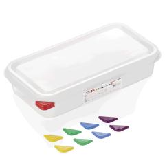 Opbevaringsbox med låg plast 1/3gn, dybde 6,5 cm