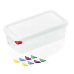 Opbevaringsbox med låg plast 1/3gn, dybde 10 cm
