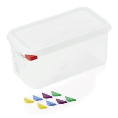 Opbevaringsbox med låg plast 1/3gn, dybde 15 cm