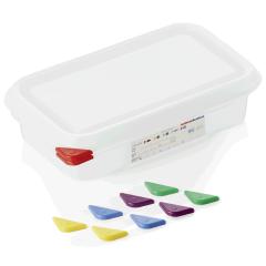 Opbevaringsbox med låg plast 1/4gn, dybde 6,5 cm