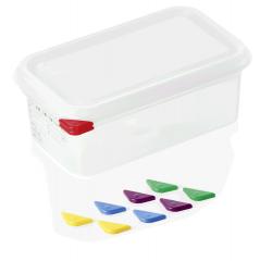 Opbevaringsbox med låg plast 1/4gn, dybde 10 cm
