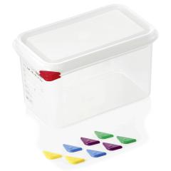 Opbevaringsbox med låg plast 1/4gn, dybde 15 cm