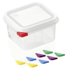 Opbevaringsbox med låg plast 1/6gn, dybde 10 cm