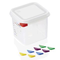 Opbevaringsbox med låg plast 1/6gn, dybde 15 cm