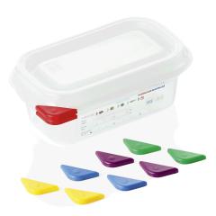 Opbevaringsbox med låg plast 1/9gn, dybde 6,5 cm