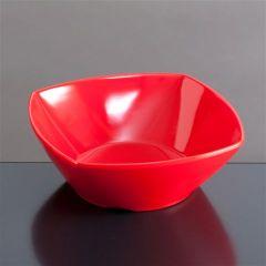 Melamin skål firk 139x139x50 mm RØD