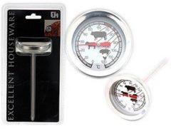 Stegetermometer på spyd, 0 - 120 grader C, længde 10 cm