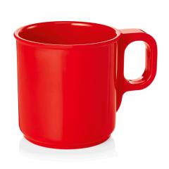 Rød melaminkop