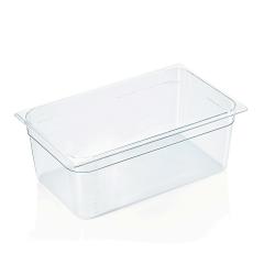 Gastrobakke klar polycarbonat 1/1gn 28,0L, dybde 20,0 cm