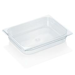 Gastrobakke i klar polycarbonat 1/2gn 4,0L, dybde 6,5 cm