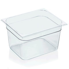 Gastrobakke i klar polycarbonat 1/2gn 12,5L, dybde 20,0 cm