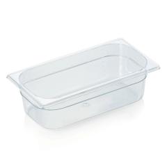Gastrobakke klar polycarbonat 1/3gn 3,5L , dybde 10,0 cm
