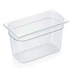 Gastrobakke i klar polycarbonat 1/3gn 7,8L , dybde 20,0 cm