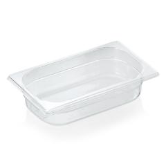 Gastrobakke klar polycarbonat 1/4gn 1,8L , dybde 6,5 cm