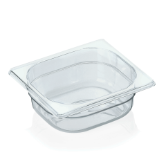 Gastrobakke klar polycarbonat 1/6gn 1,0L , dybde 6,5 cm