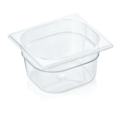 Gastrobakke klar polycarbonat 1/6gn 1,5L , dybde 10,0 cm