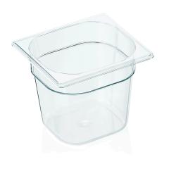 Gastrobakke klar polycarbonat 1/6gn 2,5L , dybde 15,0 cm