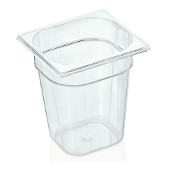 Gastrobakke klar polycarbonat 1/6gn 3,4L , dybde 20,0 cm