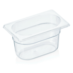 Gastrobakke klar polycarbonat 1/9gn 1,0L , dybde 10,0 cm