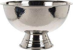 Champagnebowle ø39 cm i hamret rustfri stål Base Image