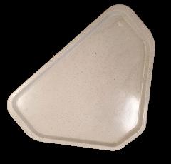 Bakke skrå hjørner polycarbonat GRÅ 48x34 cm - Udgår