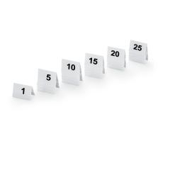 Skilte med bordnumre