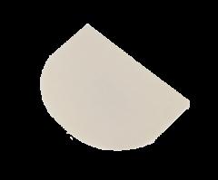 Fadskraber plast HVID 1/2 måne - 12x9H
