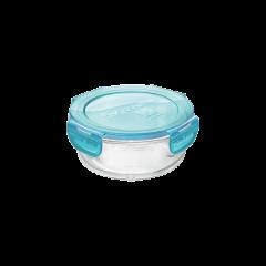 rund opbevaringsboks i glas