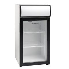 Køleskab display 80L med lystop
