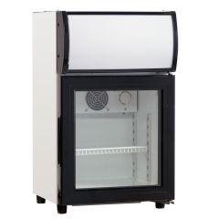 Køleskab display netto 22 L med lystop